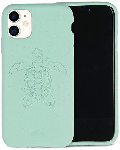 Oferta de Pela - Funda para el iPhone 11-100% compostable - Biodegradable - Hecho con Plantas - Cero residuos (11 Ocean Turtle)