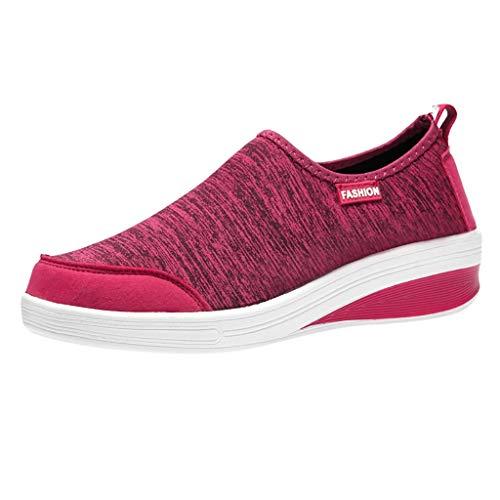 Chaussures de Sport Femme, zycShang La Mode Maille Rehaussement Les Chaussures Fond Mou Baskets Running Respirantes Athlétique Shoes Fitness Gym athlétique Outdoor Casual Sneakers