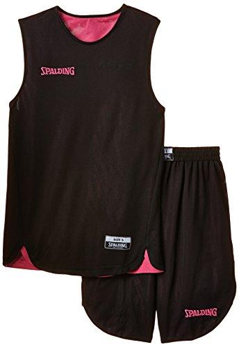 Spalding - Double Face ensemble de short - Enfant - Noir (Noir/rose) - Taille: XS/152