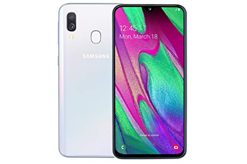 Samsung Galaxy A40 64 GB 5.9-Inch FHD+ Android 9 Pie UK Version Dual-SIM Smartphone - White Best Price and Cheapest