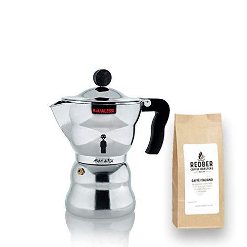 Alessi Moka Espressokocher für 3 Tassen von Alessandro Mendini mit 125g Kaffee Alessandro Mendini Alessi