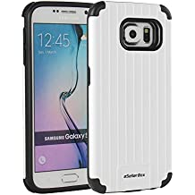 eSellerBox® Samsung Galaxy S6 Case Heavy Duty TPU+PC Shock-Absorption Drops and Bumps Protection Armor Hybrid Dual-Layer Slim Case Cover Frame,Retail Package