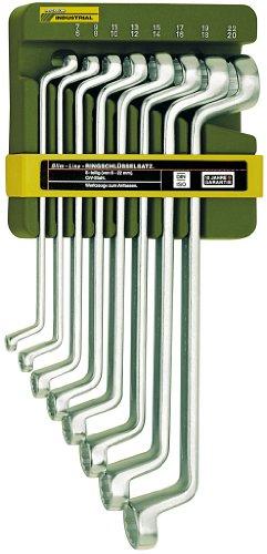 Proxxon 23810 Doppel-Ringschlüsselsatz, 8-teilig von 6 x 7 bis 20 x 22 mm