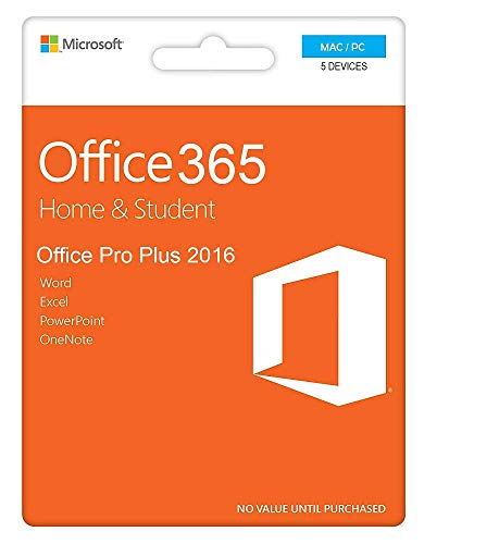 Office 365 Student & Home Account (Word, Excel, PowerPoint, Outlook...) | 5 Devices Lifetime Product | PC/Mac | E-Mail Delivery (24h)