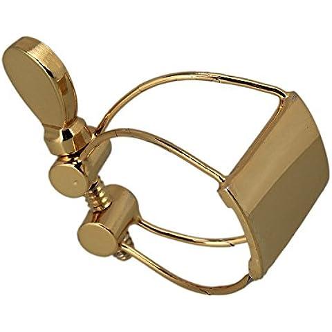 WEONE durevole Sassofono Soprano Bocchino fermaglio in oro metallo placcato clip ad alta tono musicale Accessori Strumento