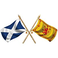 St Andrews/ Rampant Lion Crossed Flags