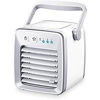 Mr. Fragile Refrigerador Pequeño Dormitorio con Aire Acondicionado Mini Aire Acondicionado Ventilador USB Cama De Estudiante Oficina Portátil Silencioso Aire Acondicionado Ventilador