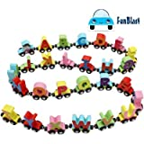FunBlast Wooden Magnetic Alphabet Colorful Train, Educational Model Vehicle Toys, Set of 26 Pcs A to Z, Educational…