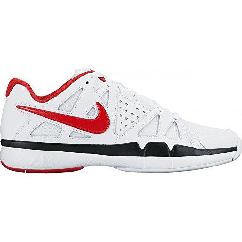 Nike Air Vapor Advantage, Chaussures de Tennis Garçon White/University Red-Black