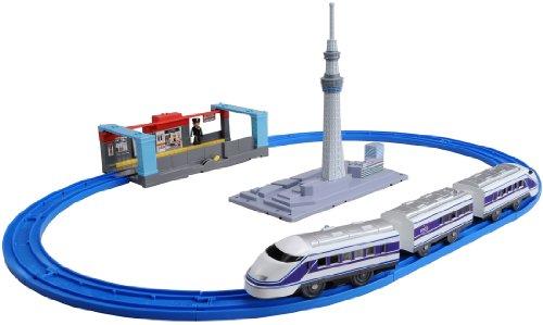 Plarail - Let`s go by Tobu Spacia !: Tokyo Sky Tree Set (Model Train)