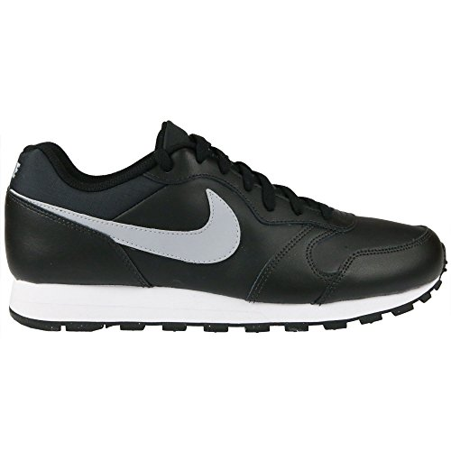 Nike - MD Runner 2 Leather - Couleur: Blanc-Gris-Noir - Pointure: 45.5