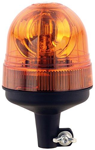AdLuminis Halogen Rundumleuchte Orange, Groß Mit Festem Fuß, Blinkleuchte 12V 24V, ECE R65 Straßenverkehr Zulassung, KFZ Warnleuchte