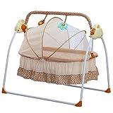 Elektrische Babyschaukel 3 Farbe Automatische Babywippe Babybett Babywiege mit Musik und Moskitonetze