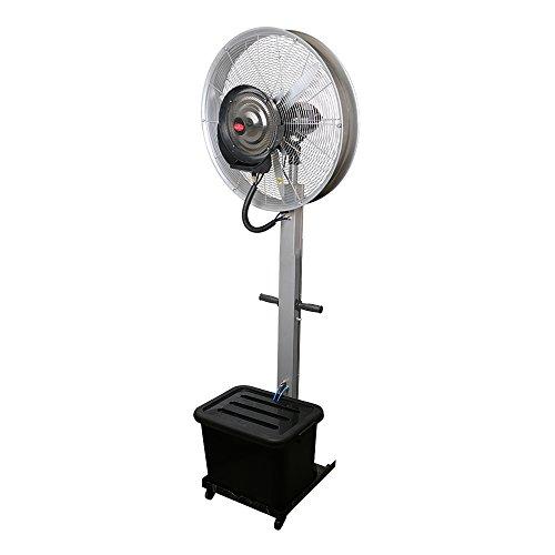 """Eurokraft 26"""" Mist Fan Cooler Water Mist Fan Commercial Domestic Big Spray Mist Fan 6.5 Ft - Silver"""