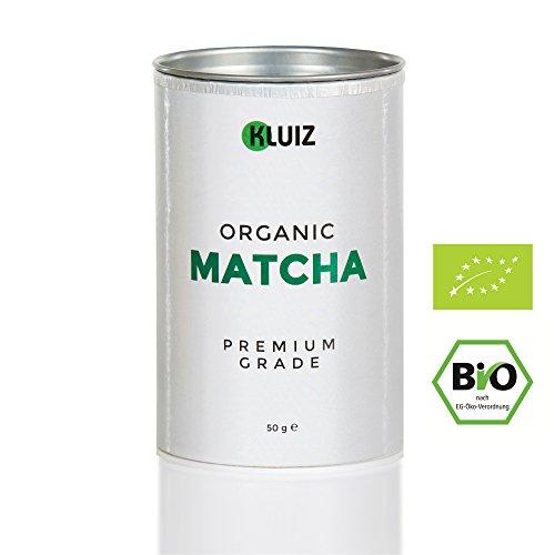 BIO Matcha Pulver in Premium Qualität [MHD 31.01.19] | Dein Koffein Booster für volle Konzentration | Original Bio Grüntee Pulver für Matcha Tee, Matcha Latte oder Matcha Smootie