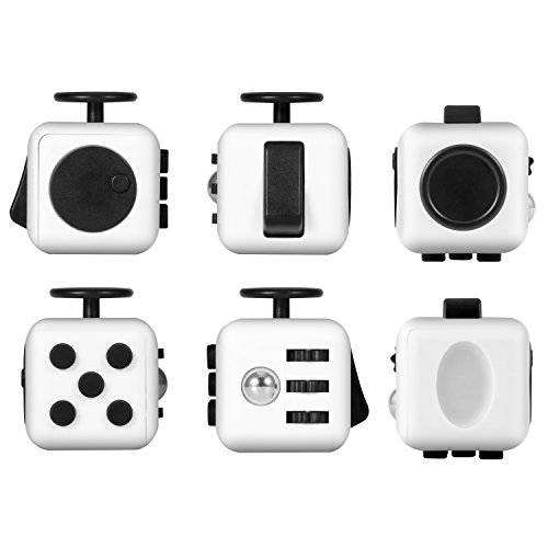 Magicfly Fidget Spinner and Fidget Cube : Stress Reducer Perfect For ADD, ADHD, Anxiety & Autism Adult Children (White) - 5