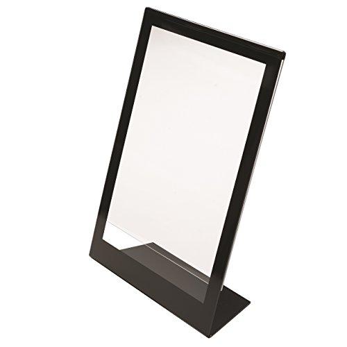 Deflecto Superior Image Halterung schräge Schild, Tisch und Schreibtisch, vertikal, 21,6x 27,9cm schwarz Bordüre (69775)