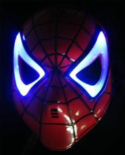 Boddban - Máscara de Spiderman con luces LED para niños...