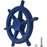 WICKEY Lenker Schiff Schiffslenker Schiffslenkrad Steuerrad für Spielturm, Ø35cm, blau