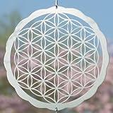 Carillón de viento–de la flor de la vida de acero inoxidable 200–dimensiones: ø10cm incluye suspensión