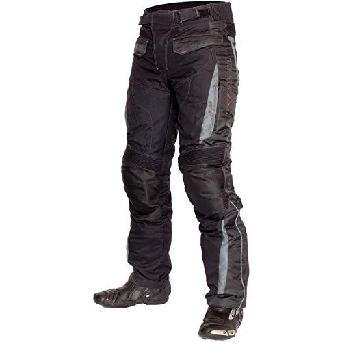 Motorrad-chaps Frauen (Lookwell heimsuchen Textil Motorrad Reiten Hose, schwarz/gun, Größe XS)