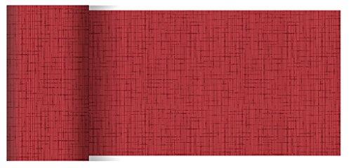 Duni Dunicel Tischläufer Linnea Bordeaux 0,15 x 20 m