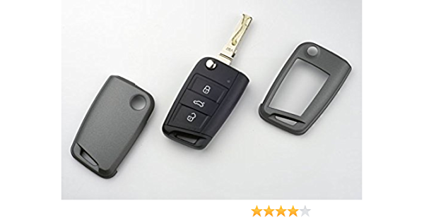Key Cover Hülle Für Klappschlüssel Fernbedienung Ffb Carbon Grau Auto