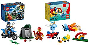 Lego City Police Off-Road Chase with Rainbow Fun Combo (Pack Of 4)