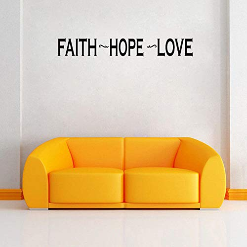 GLAUBE HOFFNUNG LIEBE Inspiration Wandaufkleber Bibel Abnehmbare Dekor PVC Aufkleber 90,9 CM * 12,6 CM