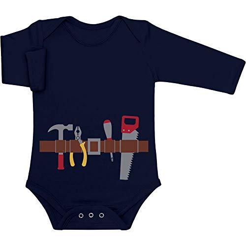 Shirtgeil Handwerker Baby Halloween Kostüm Baby Langarm Body 50/56 (0-3M) Marineblau