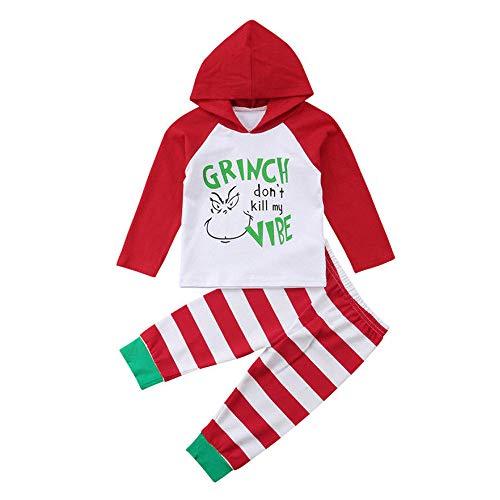 TPulling Baby Mädchen Kleidung Mit Kapuze Oberteile Gestreifte Hose Set 2Pcs Outfit Kleidung