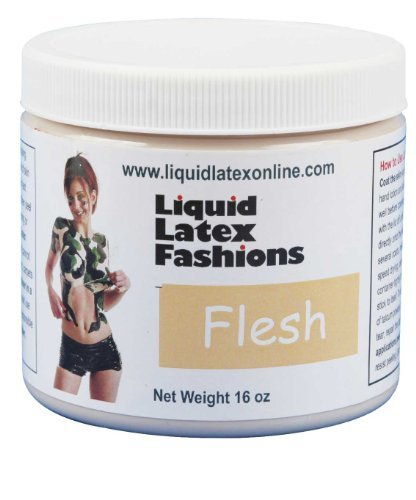 (Liquid Latex Fashions Ammonia-Free Body Paint, Flesh, 16-Ounce Jar by Liquid Latex Fashions)