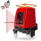 Linkax Livello Laser, Livella Laser Autolivellante, Linea Orizzontale e Verticale, Laser a Croce Autolivellante, Alimentato da Cavo Tipo C o Batterie (Non incluso)