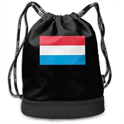 Borsa a tracolla bandiera del Lussemburgo per uomo e donna, 100% borsone durevole in poliestere
