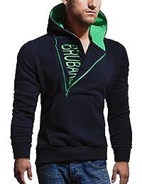 BRUBAKER Sweat-shirt à capuche pour homme -