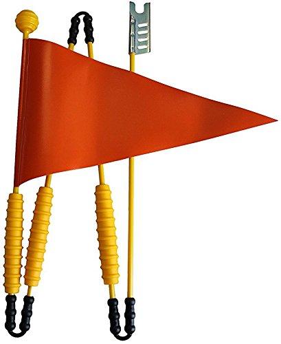 Sicherheitswimpel aus Heavy Duty LKW Plane | Fahrradfahne z.b für Puky Laufrad, Kinderfahrrad Kinder Wimpel Fahrrad (Orange)