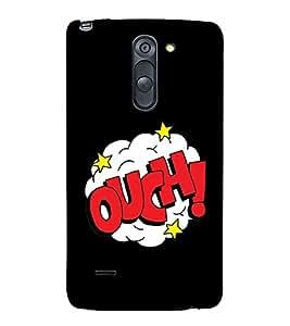 Ouch 3D Hard Polycarbonate Designer Back Case Cover for LG G3 Stylus :: LG G3 Stylus D690N :: LG G3 Stylus D690