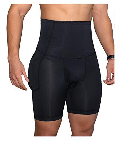 Ning Herren Kolben-Pads Hip Enhancer Gepolstert Unterwäsche Shapewear Booty Lifter Nahtlos Gefälschte Polsterung Slip,Black,XL -