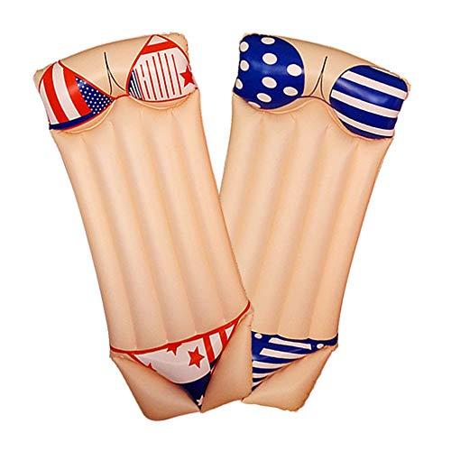 QSBY Bikini Spielzeug-Liege schwimmende Matte sicher langlebiges Schwimmbad schwimmendes Bett im Freien Fotoshooting mit aufblasbaren Röhre Sommer aufblasbare Betten männliche weibliche Flesher