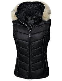 Pikeur–Chaleco para mujer con capucha desmontable brinette, 2007 black