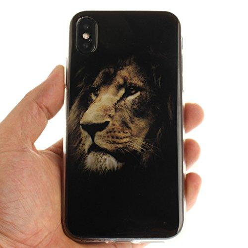 "Hülle für Apple iPhone X , IJIA Verrückt (DON'T TOUCH MY PHONE) TPU Weich Silikon Stoßkasten Cover Handyhülle Schutzhülle Bumper Handytasche Schale Case Tasche für Apple iPhone X (5.8"") V23"