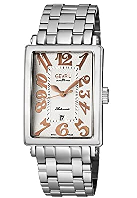 Gevril Men's Analog Swiss-Automatic Watch with Stainless-Steel Strap 5060B