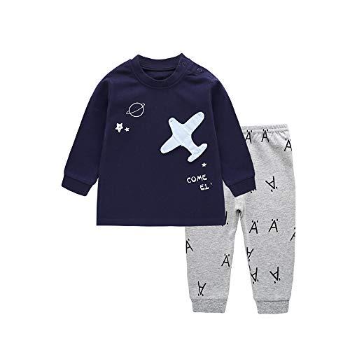 Babykleidung Satz, LANSKIRT Baby Kinder Jungen Mädchen Pyjamas Sets Anzug Infant Cartoon Flugzeug Print Outfits Kleidung 0-4 Alter