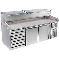 Royal Catering - RCKT-202/80-VG - Bajomostrador refrigerado - 202x80cm - de granito - 485 litros - 260 watt - Envío Gratuito