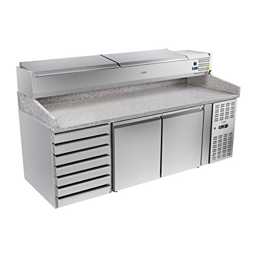 Royal Catering - RCKT-202/80-VG - Pizza-Kühltisch - 202 x 80 cm