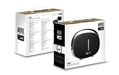 Altec Lansing Ovo (AL-BT42S) - Altavoz portátil Bluetooth, Color Negro
