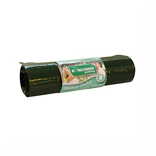 Robuste Gartenmüllsäcke mit 75 l Fassungsvermögen, 16 Stück, Grün (Designer-kleidung Großhandel)