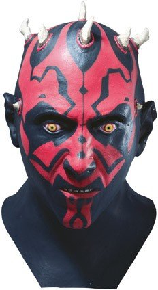 Horror-Shop Z860250 Star Wars - Máscara de Darth Maul, Color Verde