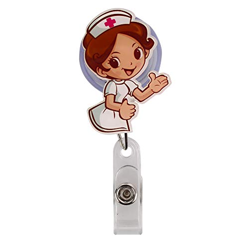 ge Schnalle Card Buckle Anti-verlorene Keychain Halter mit Krankenhaus Arbeiter Muster (Führer Krankenschwester) ()