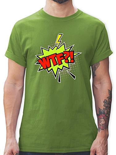 Karneval & Fasching - Popart Karneval Kostüm WTF! - XL - Hellgrün - L190 - Herren T-Shirt und Männer Tshirt (Pop Art Comic Mann Kostüm)